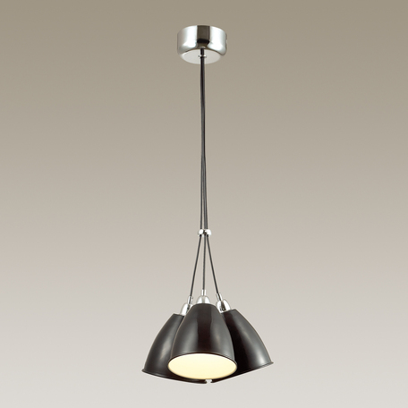 Подвесная люстра Odeon Light Trina 3974/3, 3xE27x60W, хром, черный, металл