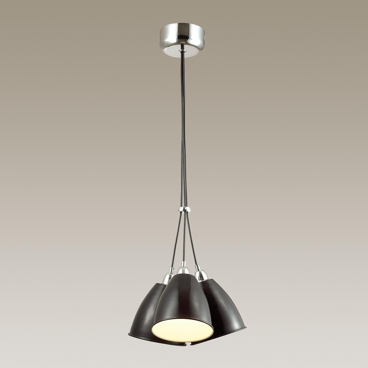 Подвесная люстра Odeon Light Trina 3974/3, 3xE27x60W, хром, черный, металл - фото 1