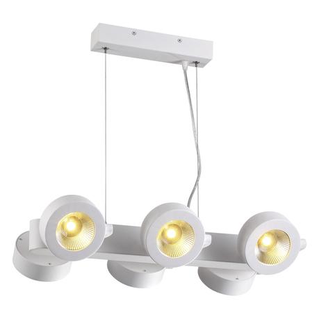 Подвесная светодиодная люстра с регулировкой направления света Odeon Light Pumavi 3493/60L, LED 60W, 3000K (теплый), белый, металл