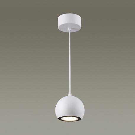 Подвесной светодиодный светильник Odeon Light Urfina 3536/1L, LED 10W, 3000K (теплый), белый, черный, металл