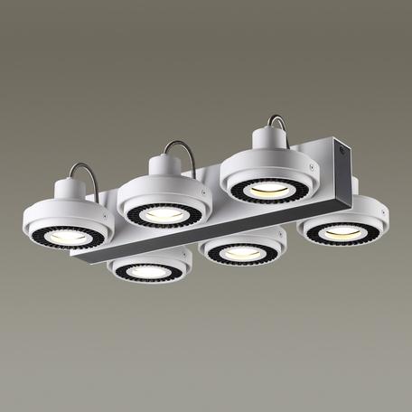 Потолочная люстра с регулировкой направления света Odeon Light Satelium 3490/6C, 6xGU10x50W, белый, черный, металл