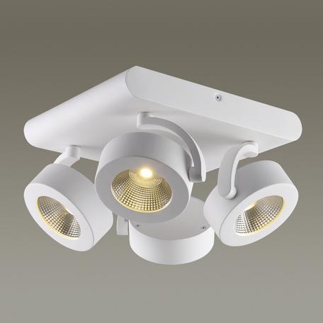 Потолочная светодиодная люстра с регулировкой направления света Odeon Light Pumavi 3493/40CL, LED 40W, 3000K (теплый), белый, металл - миниатюра 1