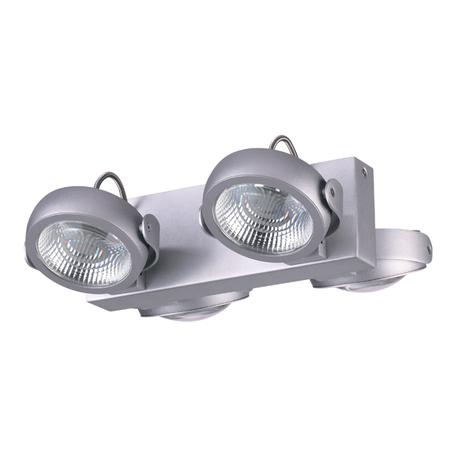 Потолочная светодиодная люстра с регулировкой направления света Odeon Light Flabuna 3494/40CL, LED 40W, 3000K (теплый), серебро, металл