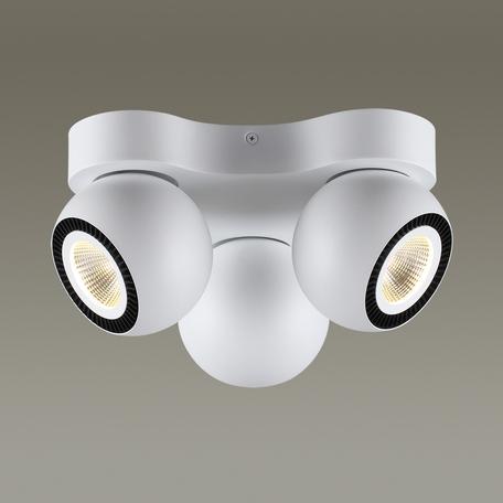 Потолочная светодиодная люстра с регулировкой направления света Odeon Light Urfina 3536/3CL, LED 30W, 3000K (теплый), белый, черный, металл