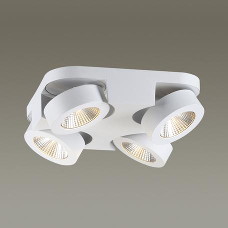 Потолочная светодиодная люстра с регулировкой направления света Odeon Light Laconis 3538/4LC, LED 40W, 3000K (теплый), белый, металл