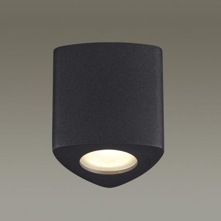 Потолочный светильник Odeon Light Aquana 3575/1C, IP44, 1xGU10x50W, черный, металл, стекло