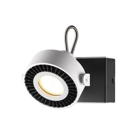 Потолочный светильник с регулировкой направления света Odeon Light Satelium 3490/1W, 1xGU10x50W, белый, черный, металл
