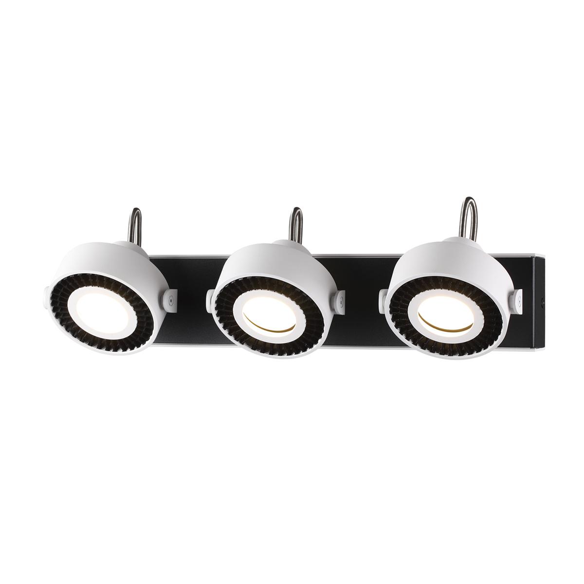 Потолочный светильник с регулировкой направления света Odeon Light Satelium 3490/3W, 3xGU10x50W, белый, черный, металл - фото 1