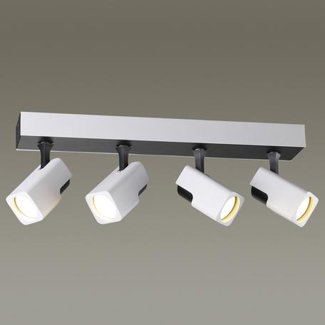 Потолочный светильник с регулировкой направления света Odeon Light Daravis 3491/4C, 4xGU10x50W, белый, черный, металл