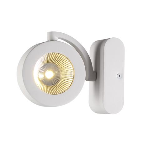 Потолочный светодиодный светильник с регулировкой направления света Odeon Light Pumavi 3493/10WL, LED 10W 3000K (теплый), белый, металл