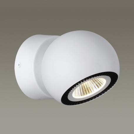 Потолочный светодиодный светильник с регулировкой направления света Odeon Light Urfina 3536/1WL, LED 10W, 3000K (теплый), белый, черный, металл