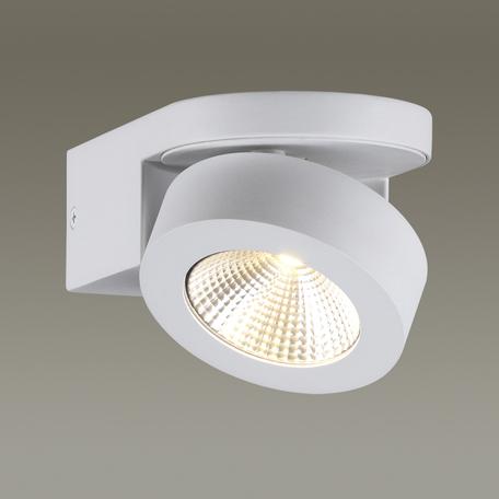 Потолочный светодиодный светильник с регулировкой направления света Odeon Light Laconis 3538/1WL, LED 10W, 3000K (теплый), белый, металл