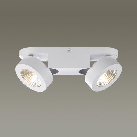 Потолочный светодиодный светильник с регулировкой направления света Odeon Light Laconis 3538/2WL, LED 20W, 3000K (теплый), белый, металл