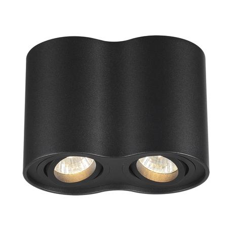 Потолочный светильник Odeon Light Hightech Pillaron 3565/2C, 2xGU10x50W, черный, металл