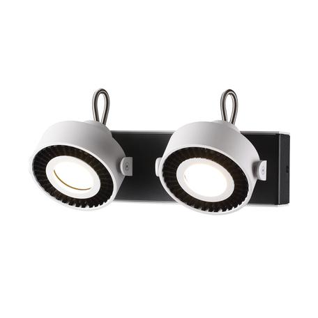 Потолочный светильник с регулировкой направления света Odeon Light Satelium 3490/2W, 2xGU10x50W, белый, черный, металл