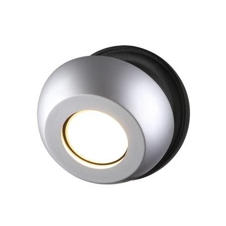 Потолочный светильник с регулировкой направления света Odeon Light Nerargo 3492/1W, 1xGU10x50W, черный, серебро, металл