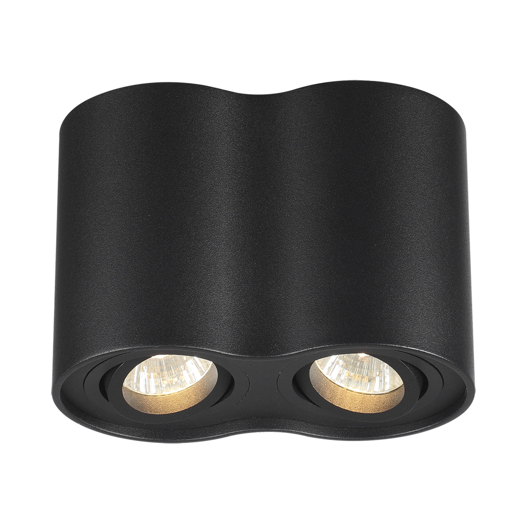 Потолочный светильник Odeon Light Pillaron 3565/2C, 2xGU10x50W, черный, металл - фото 1