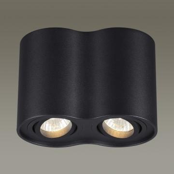 Потолочный светильник Odeon Light Pillaron 3565/2C, 2xGU10x50W, черный, металл - миниатюра 3