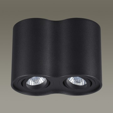 Потолочный светильник Odeon Light Pillaron 3565/2C, 2xGU10x50W, черный, металл - миниатюра 5