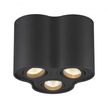 Потолочный светильник Odeon Light Pillaron 3565/3C, 3xGU10x50W, черный, металл