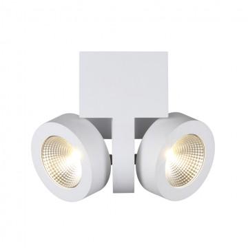 Потолочный светодиодный светильник с регулировкой направления света Odeon Light Laconis 3538/2LC, LED 20W 3000K (теплый), белый, металл