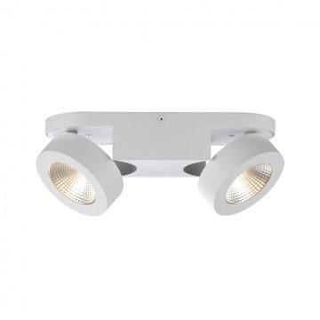 Потолочный светодиодный светильник с регулировкой направления света Odeon Light Laconis 3538/2WL, LED 20W 3000K (теплый), белый, металл
