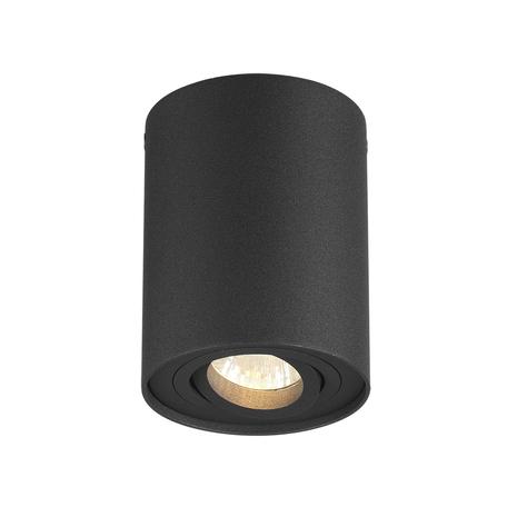 Потолочный светильник Odeon Light Hightech Pillaron 3565/1C, 1xGU10x50W, черный, металл