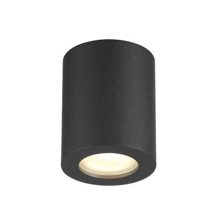 Потолочный светильник Odeon Light Hightech Aquana 3572/1C, IP44, 1xGU10x50W, черный, металл, стекло