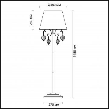 Схема с размерами Odeon Light 3922/1F