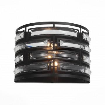 Бра ST Luce Chiarezza SL665.401.02, 2xE14x40W, черный, металл с хрусталем