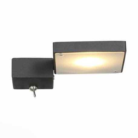 Настенный светодиодный светильник с регулировкой направления света ST Luce Mobile SL608.401.01, LED 7W 3000K, черный, металл, металл с пластиком