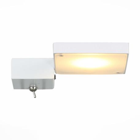 Настенный светодиодный светильник с регулировкой направления света ST Luce Mobile SL608.501.01, LED 7W 3000K, белый, металл, металл с пластиком