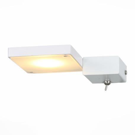 Настенный светодиодный светильник с регулировкой направления света ST Luce Mobile SL608.511.01, LED 7W 3000K, белый, металл, металл с пластиком