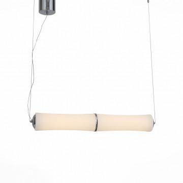 Подвесной светодиодный светильник ST Luce Bambu SL807.503.02, LED 48W 3000K, хром, белый, металл, пластик