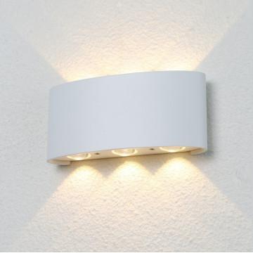 Настенный светодиодный светильник Crystal Lux CLT 023W3 WH 1400/434, IP54, LED 6W, 3000K (теплый), белый, металл