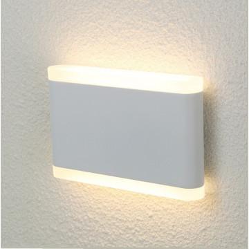 Настенный светодиодный светильник Crystal Lux CLT 024W175 WH 1400/436, IP54, LED 10W, 3000K (теплый), белый, металл, стекло