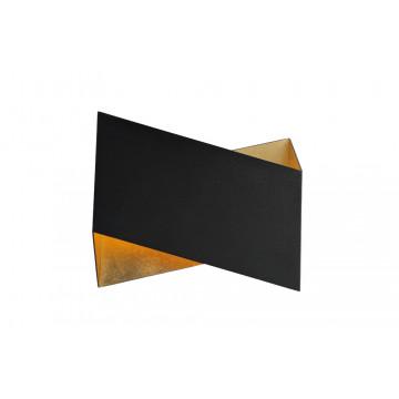 Настенный светильник Crystal Lux CLT 012 BL-GO 1400/440, 1xG9x60W, черный, металл
