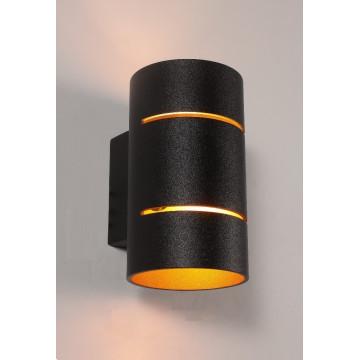 Настенный светильник Crystal Lux CLT 013 BL 1401/441, 1xG9x60W, черный, металл