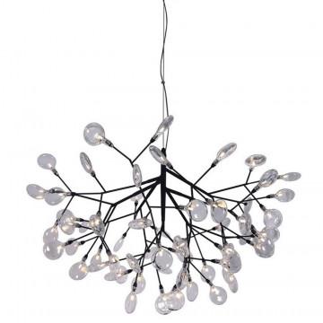 Подвесная люстра Crystal Lux EVITA SP63 BLACK/TRANSPARENT 1690/263, 63xG4x1W, черный, прозрачный, металл, стекло