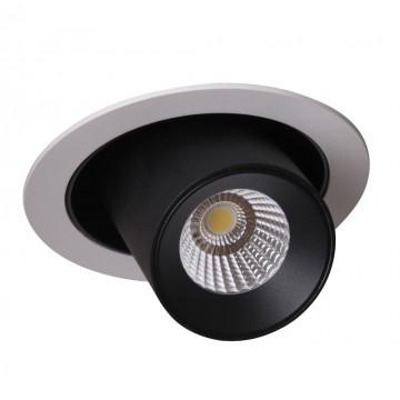 Встраиваемый светодиодный светильник с регулировкой направления света Crystal Lux CLT 011C WH-BL 1400/122, IP40, LED 10W, 4000K (дневной), белый, черный, металл