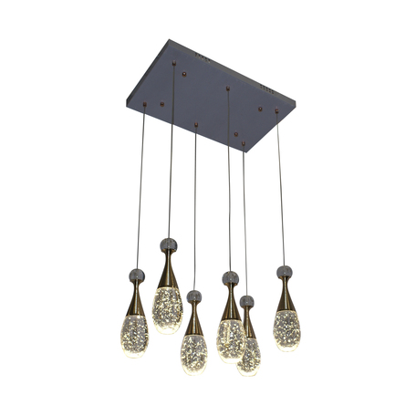 Светодиодная люстра-каскад Kink Light Флакон 08546(3000К), LED 36W 3000K 2520lm CRI>80, золото, прозрачный, металл со стеклом, стекло