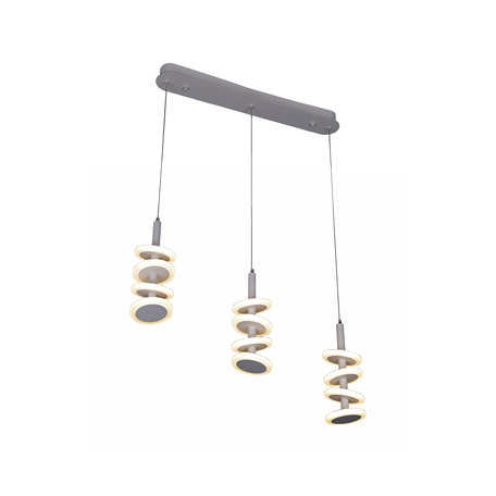 Подвесной светодиодный светильник Kink Light Пружинки 08520-3A, LED 36W 4200K 3240lm CRI>80, белый, металл, металл со стеклом/пластиком