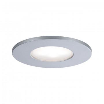 Встраиваемый светодиодный светильник Paulmann Calla 99937, IP65, LED 5W, матовый хром, металл