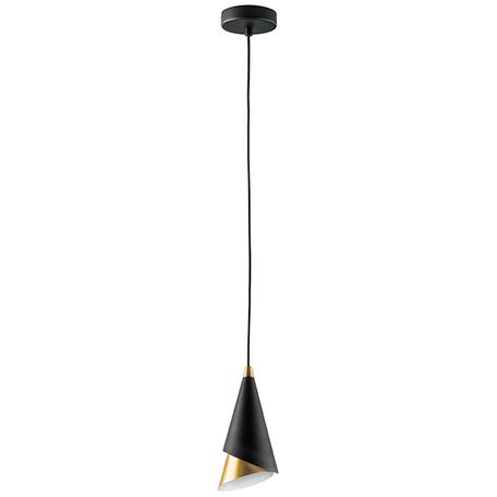 Подвесной светильник Lightstar Cone 757010, 1xE14x40W, черный, металл