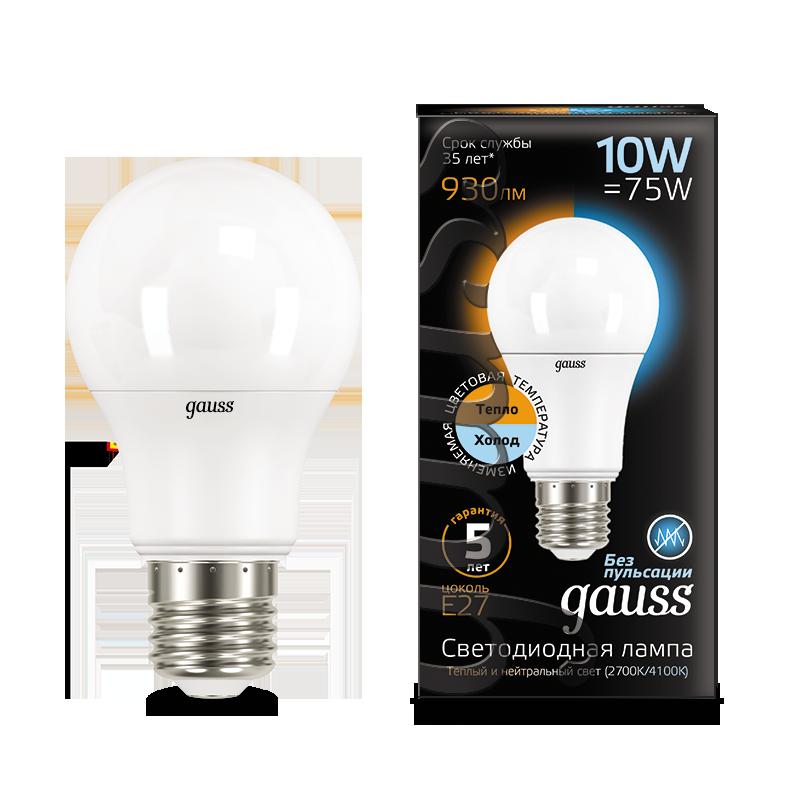 Светодиодная лампа Gauss 102502110-T груша E27 10W CRI>90 185-240V, диммируемая, гарантия 5 лет - фото 1
