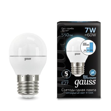 Светодиодная лампа Gauss 105102207-S, белый