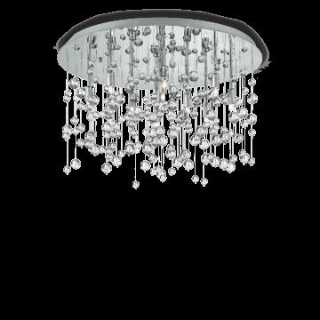 Люстра-каскад Ideal Lux NEVE PL8 CROMO 022222, 8xG9x40W, хром, прозрачный, металл, стекло