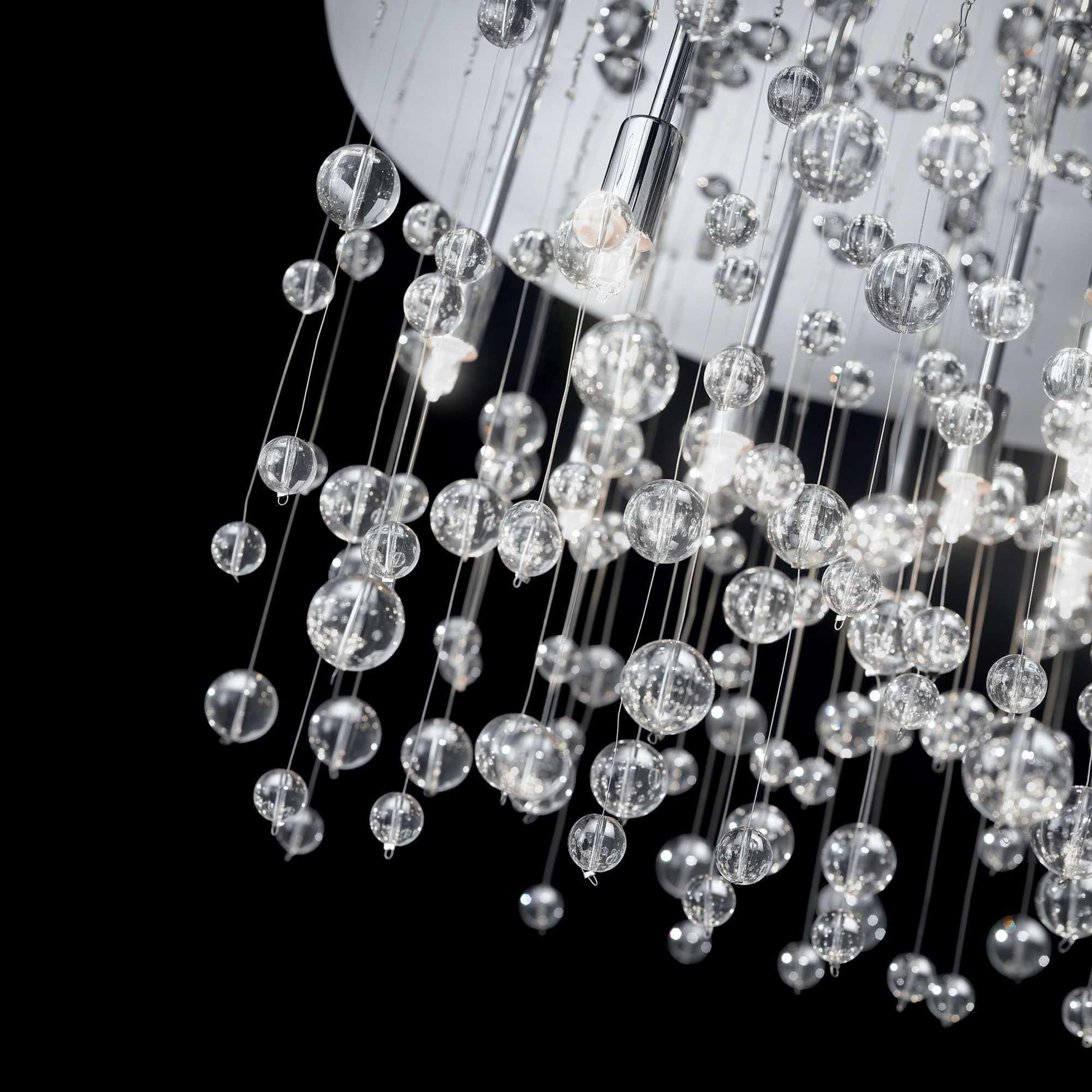 Люстра-каскад Ideal Lux NEVE PL8 CROMO 022222, 8xG9x40W, хром, прозрачный, металл, стекло - фото 2
