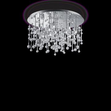 Люстра-каскад Ideal Lux NEVE PL12 CROMO 022239, 12xG9x40W, хром, прозрачный, металл, стекло