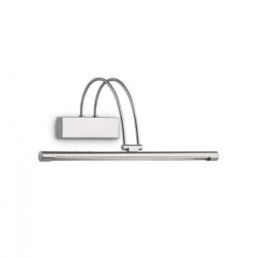 Настенный светодиодный светильник для подсветки картин Ideal Lux BOW AP66 CROMO 007045, LED 4,62W 3000K 250lm, хром, металл